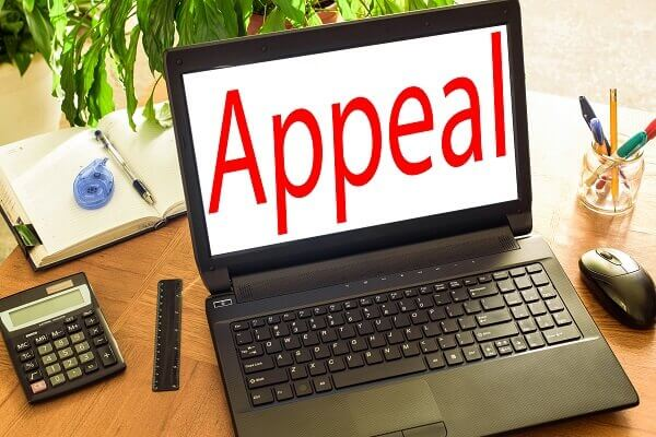 Appeal on a laptop