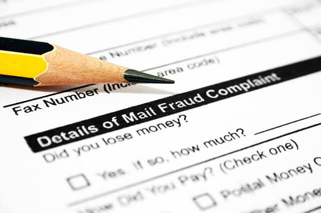 mail fraud complaint form